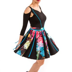 AMOROUS TWIST - Full Circle Scuba Skirt